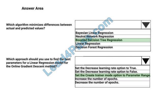pursue4pass dp-100 exam questions q8-2
